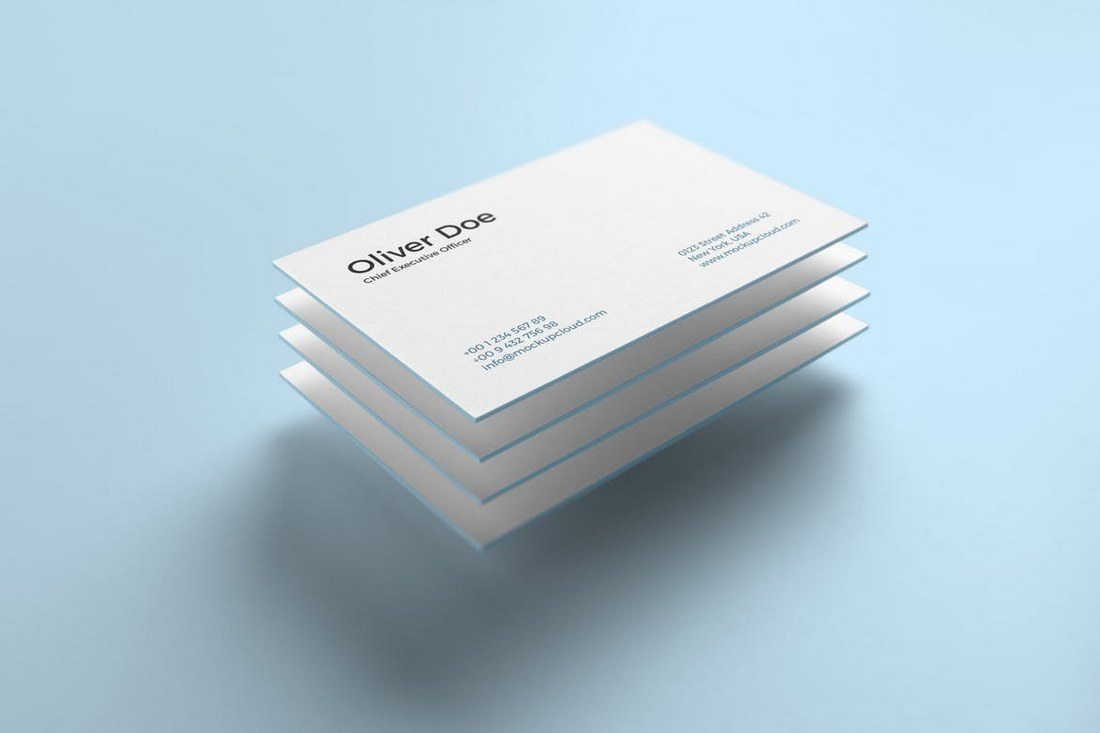 70 corporate creative business card psd mockup templates design a pack of modern business card mockup templates that features 4 different mockups featuring a unique floating design this mockup also includes customizable wajeb Image collections