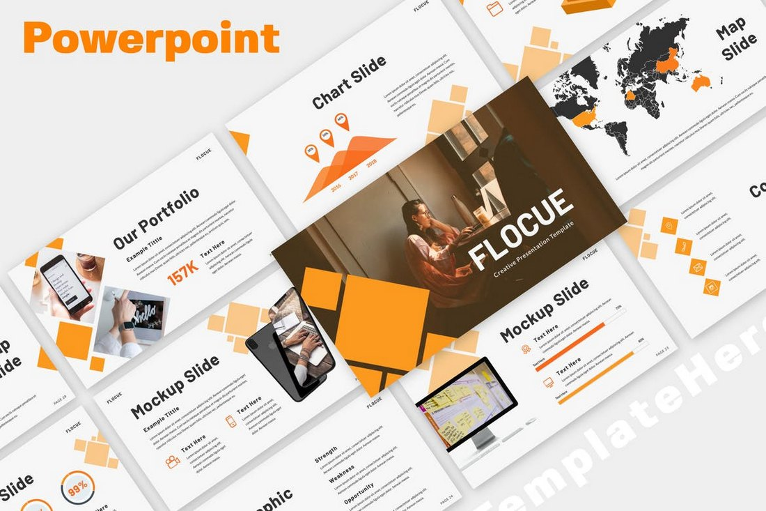 Flocue-Business-SWOT-PowerPoint-Presentation 30+ Best Business & Corporate PowerPoint Templates 2021 design tips