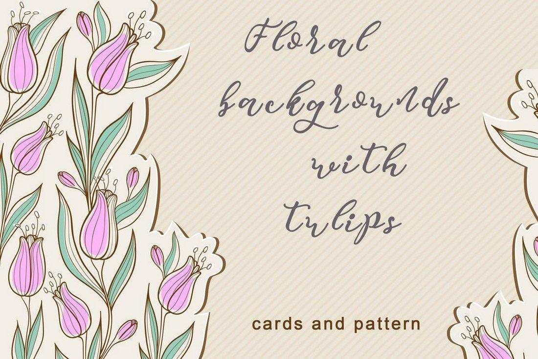 Arrière-plans floraux avec des tulipes