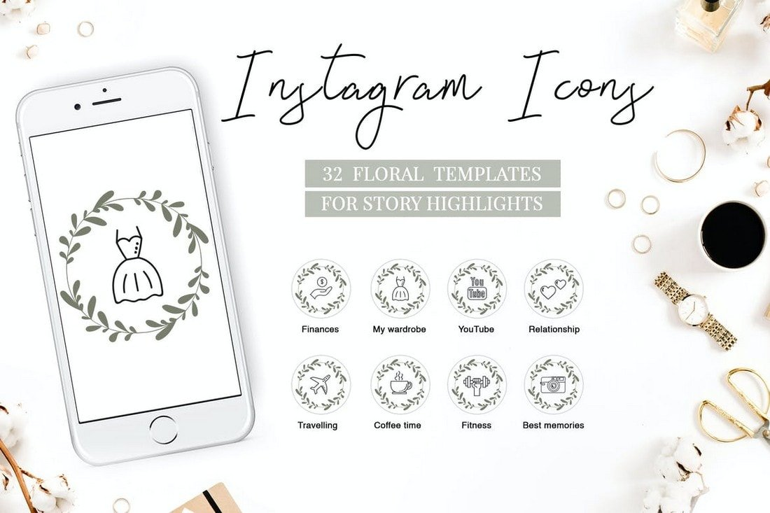 Floral Instagram Highlight Icons