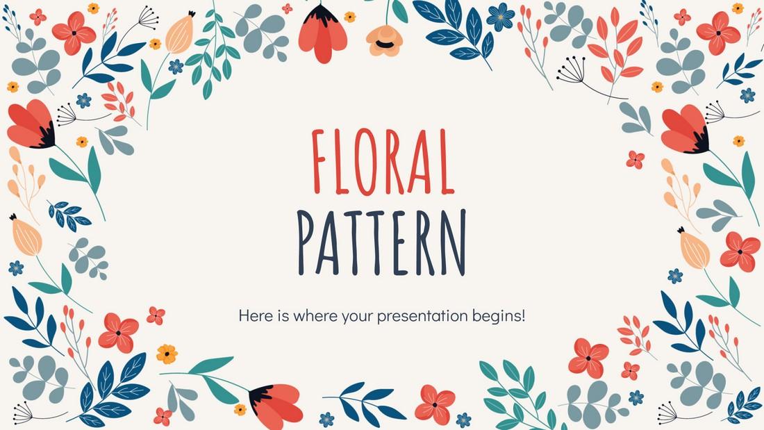 Floral Pattern - Free Google Slides Template