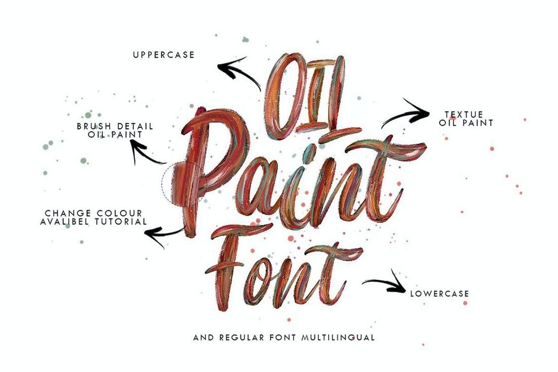 Flow - Brush Color SVG Font