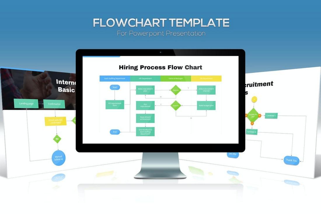 Flowchart Diagrams for Powerpoint Presentation