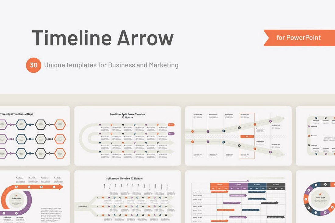 Flowchart & Timeline Templates for PowerPoint