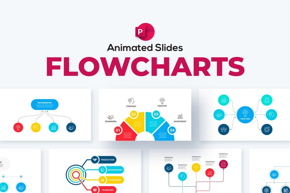 Flowcharts Animated PowerPoint Templates