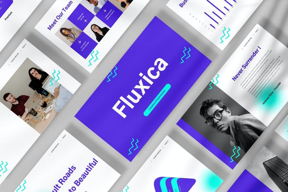 Fluxica - Creative Business Google Slides Template