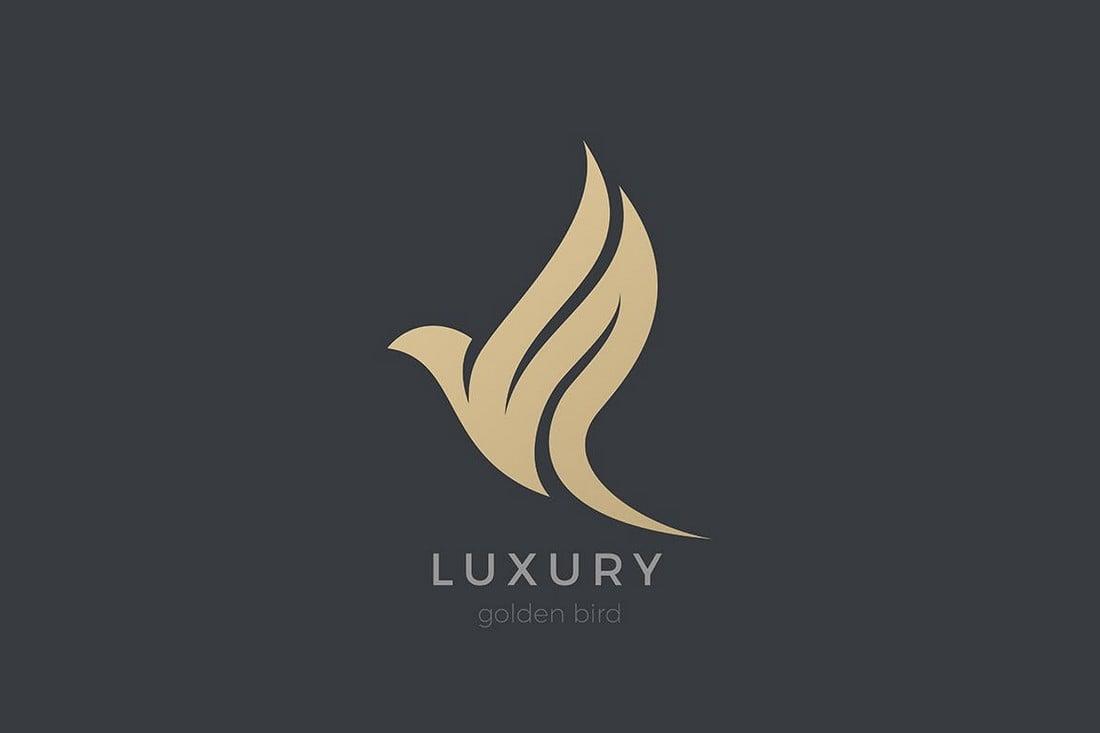 Flying Eagle Luxury Logo Template