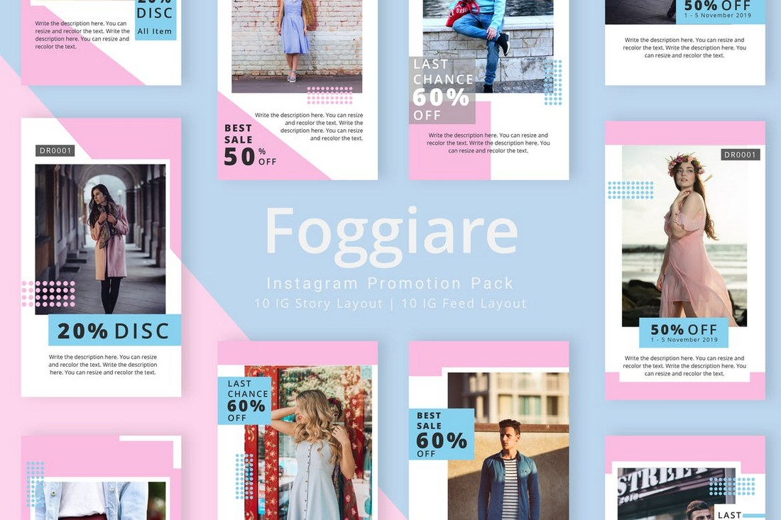 Foggiare - Instagram Promotion Templates Pack