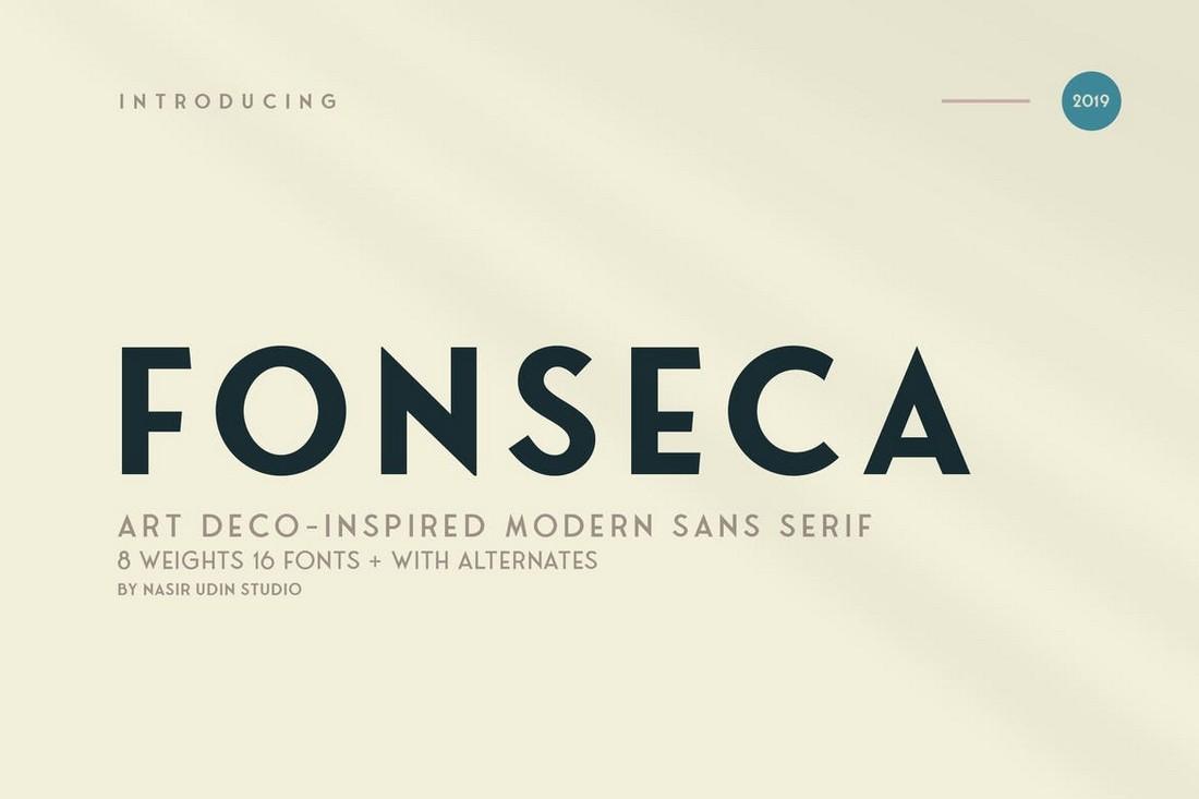 Fonseca - Geometric Art-Deco Font Family