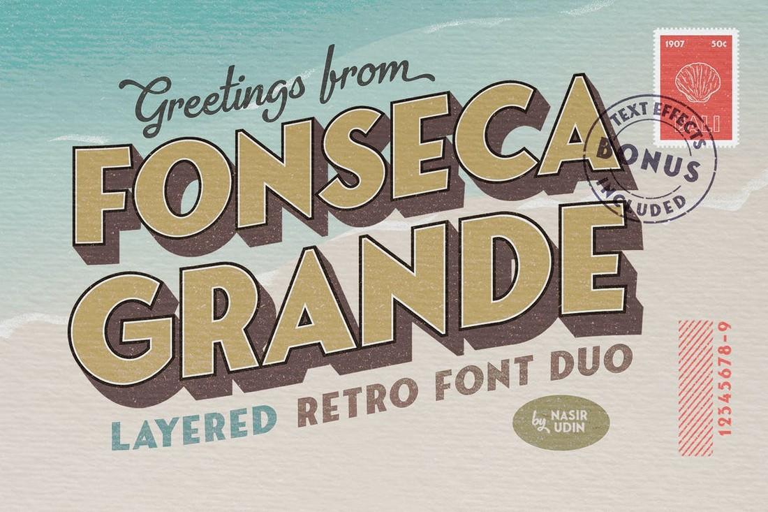 Fonseca Grande - Retro 3D Fonts