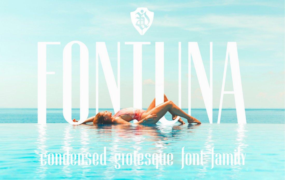 Fontuna - Free Condensed Display Font