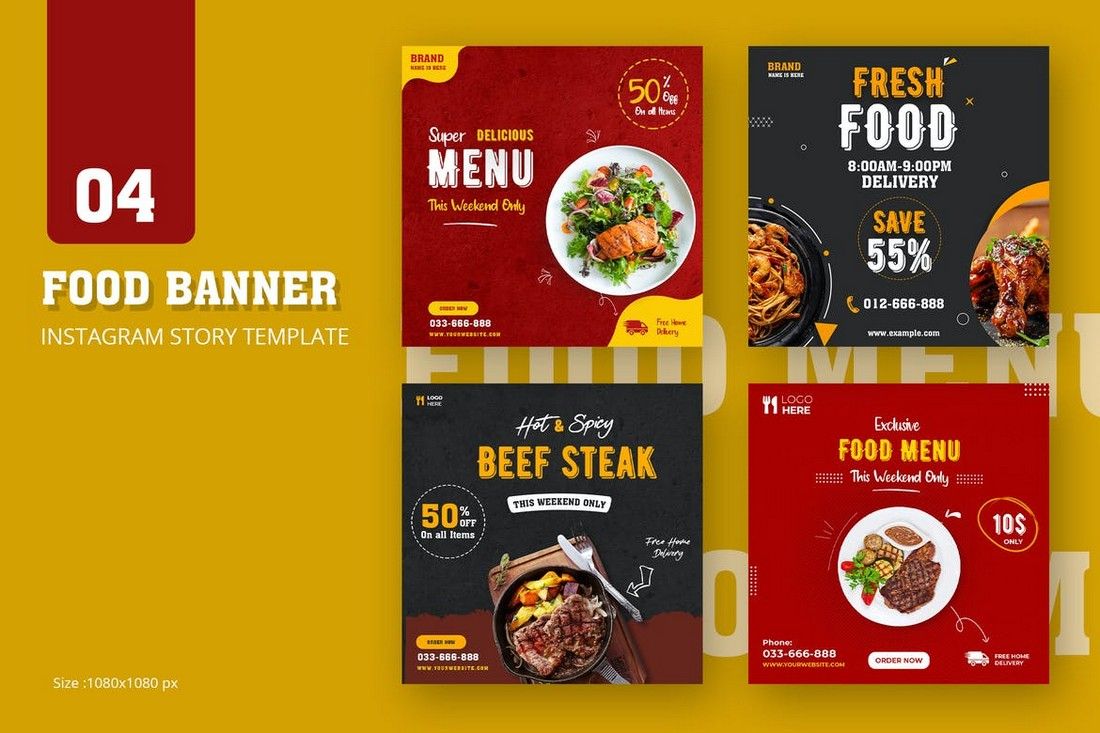 Food Banner Instagram Story Templates