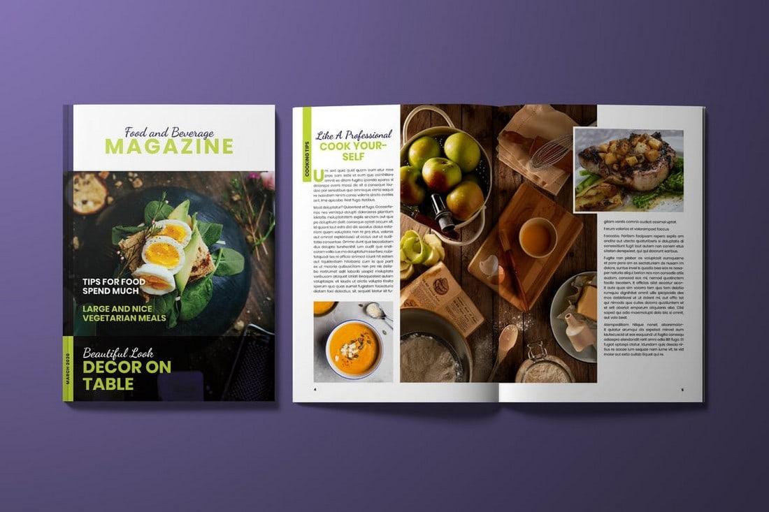 Food-Magazine-InDesign-Template 30+ Best InDesign Magazine Templates 2021 (Free & Premium) design tips