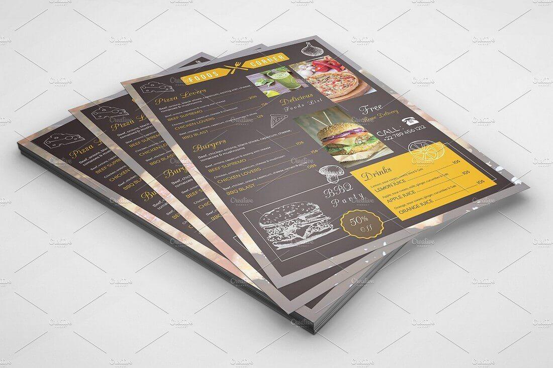 Food-Menu-Flyer-Template 50+ Best Food & Drink Menu Templates design tips