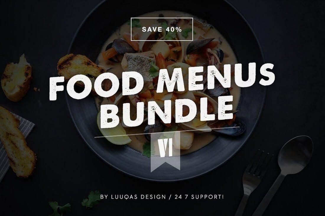 Food-Menus-Bundle 50+ Best Food & Drink Menu Templates design tips