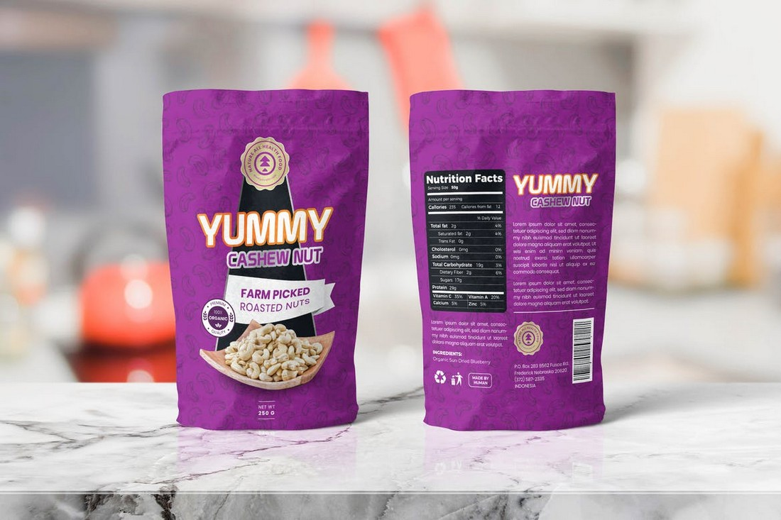 Food Pouch Packaging Templates
