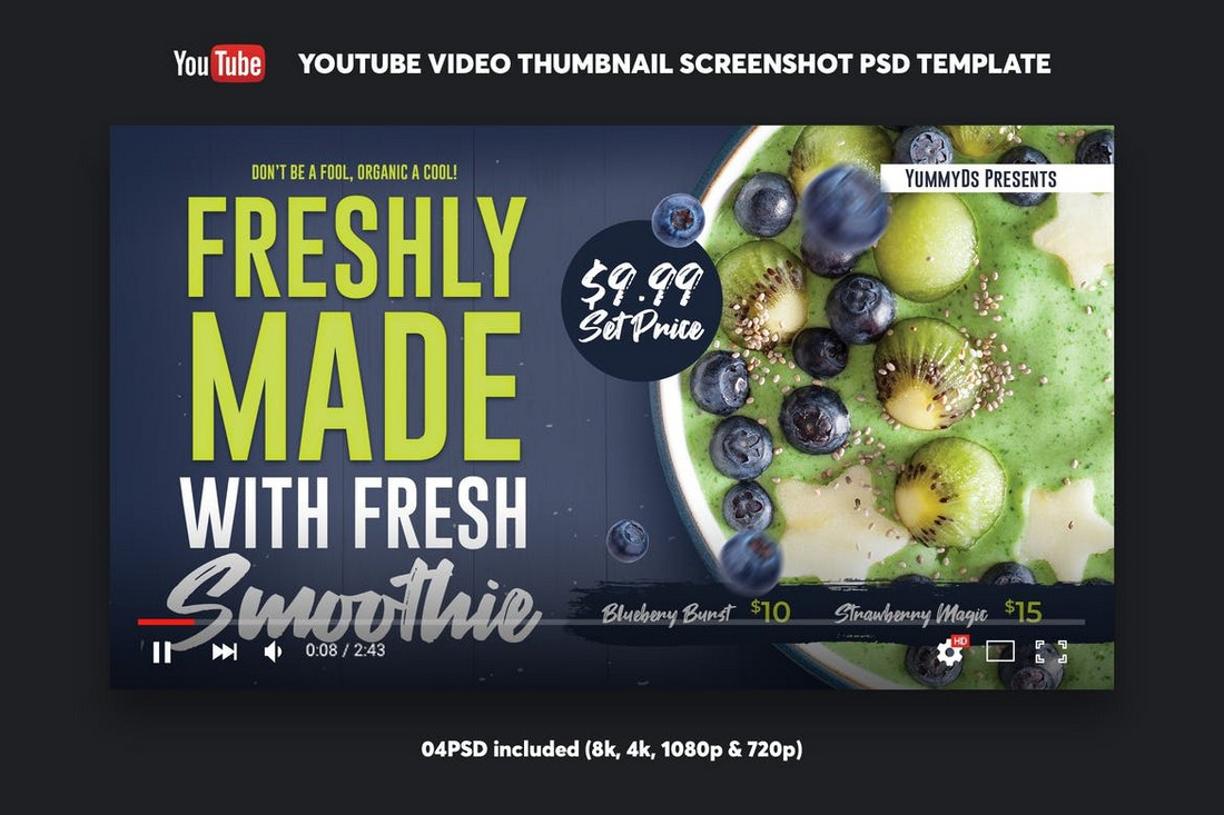 Food-Recipe-YouTube-Thumbnail-Template 20+ Best YouTube Thumbnail Templates in 2021 design tips