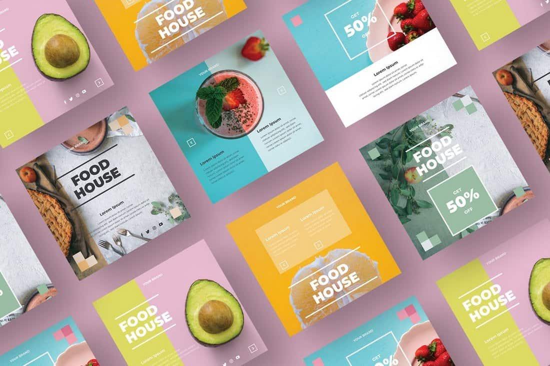Food & Restaurant Social Media Templates