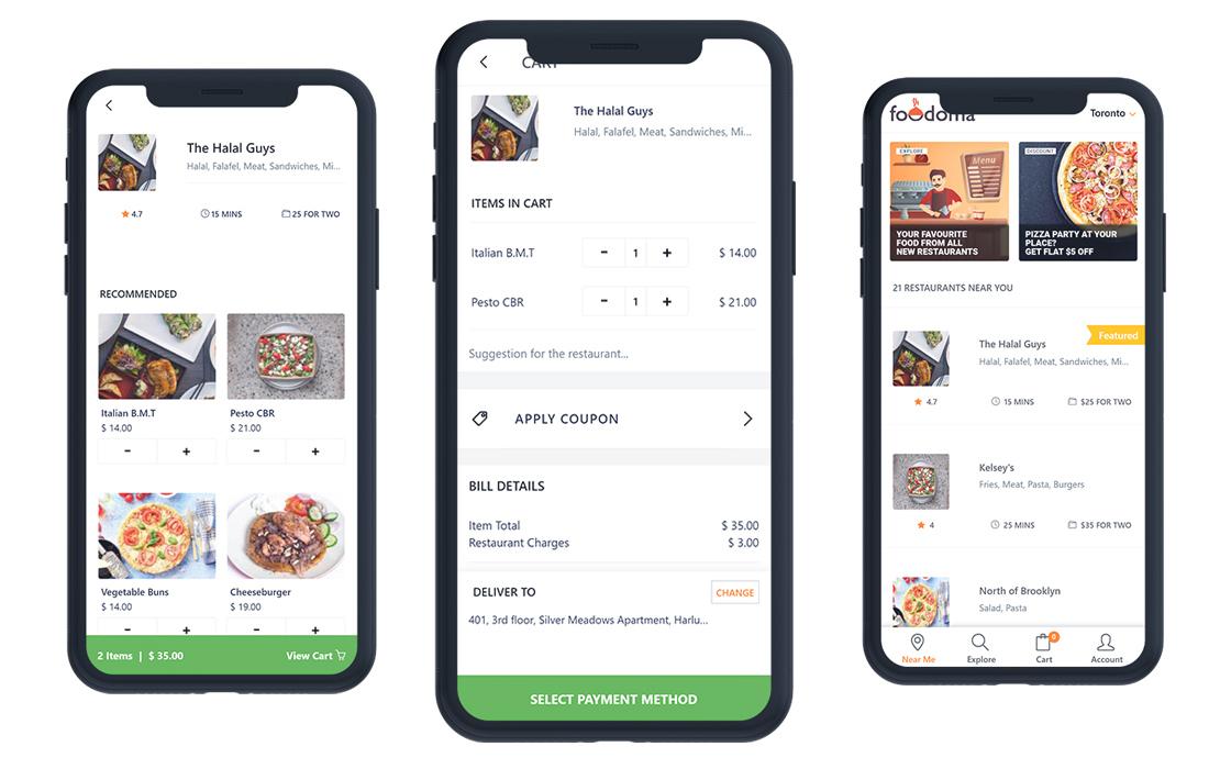 Foodomaa-Multi-Restaurant-Food-Delivery-App- 10+ Best Progressive Web App (PWA) Templates 2020 design tips