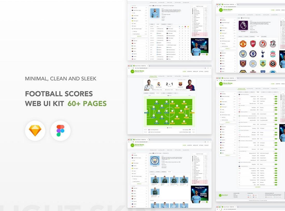 Football Website - Free UI Kit for Figma
