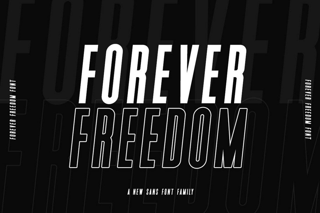 Forever-Freedom-Narrow-Font-Family 50+ Best Condensed & Narrow Fonts of 2020 design tips