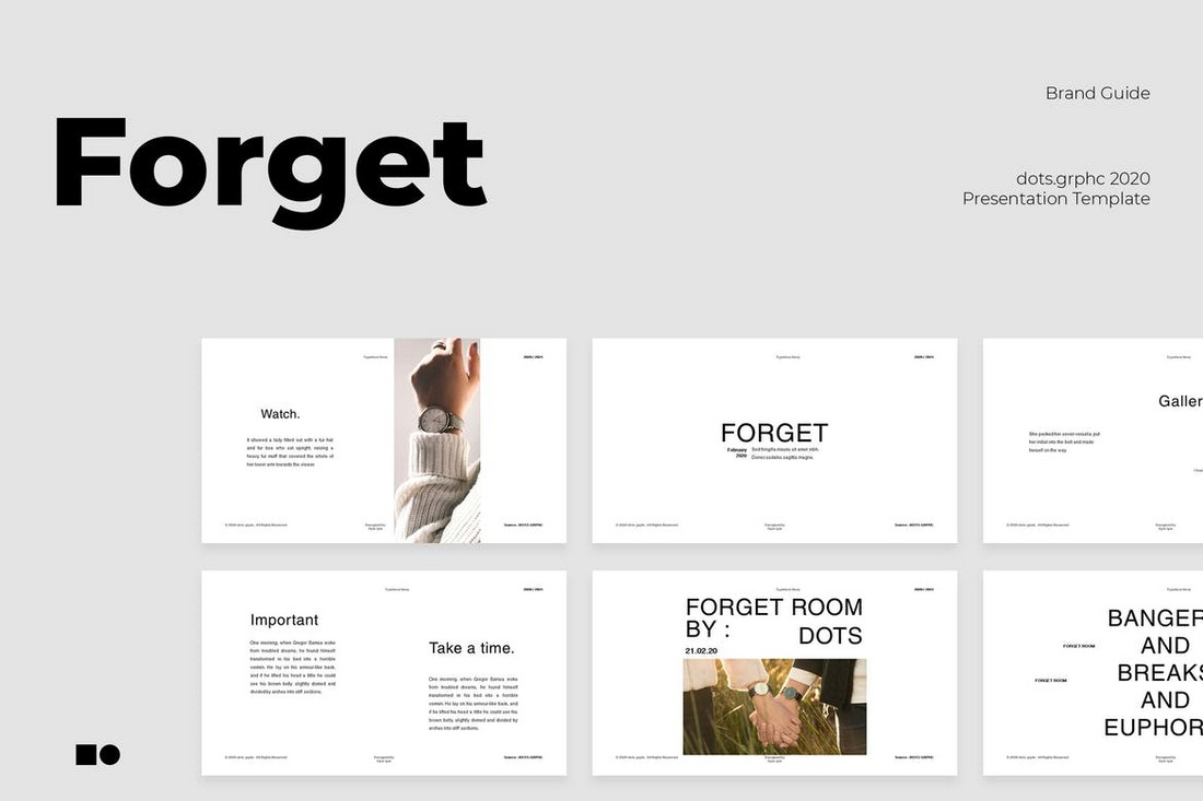 Forget - Minimalist Google Slides Template