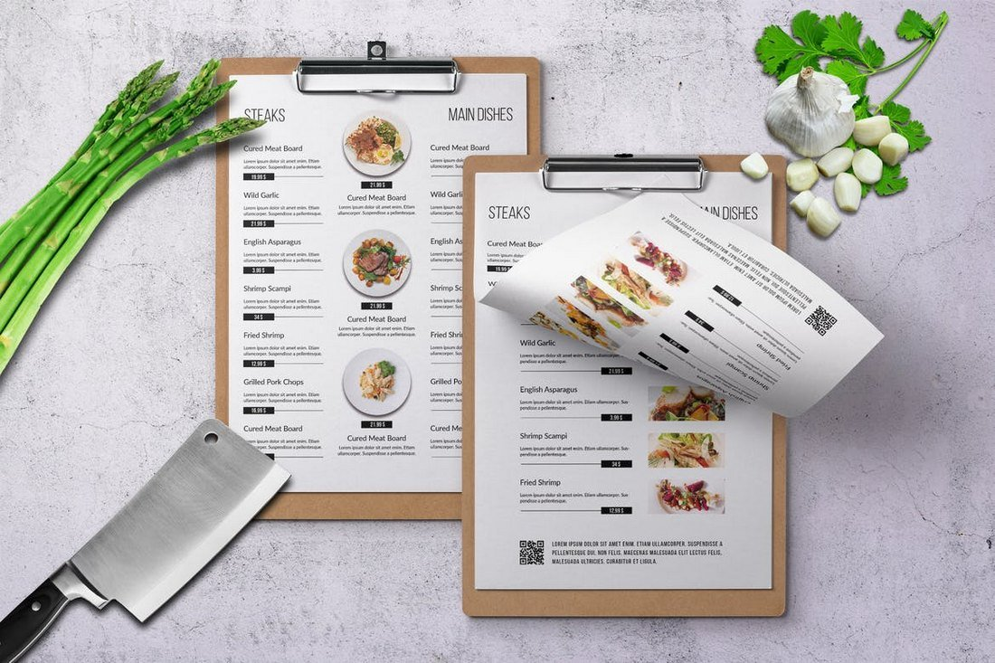Four Seasons Minimal Food and Drink Menu Template