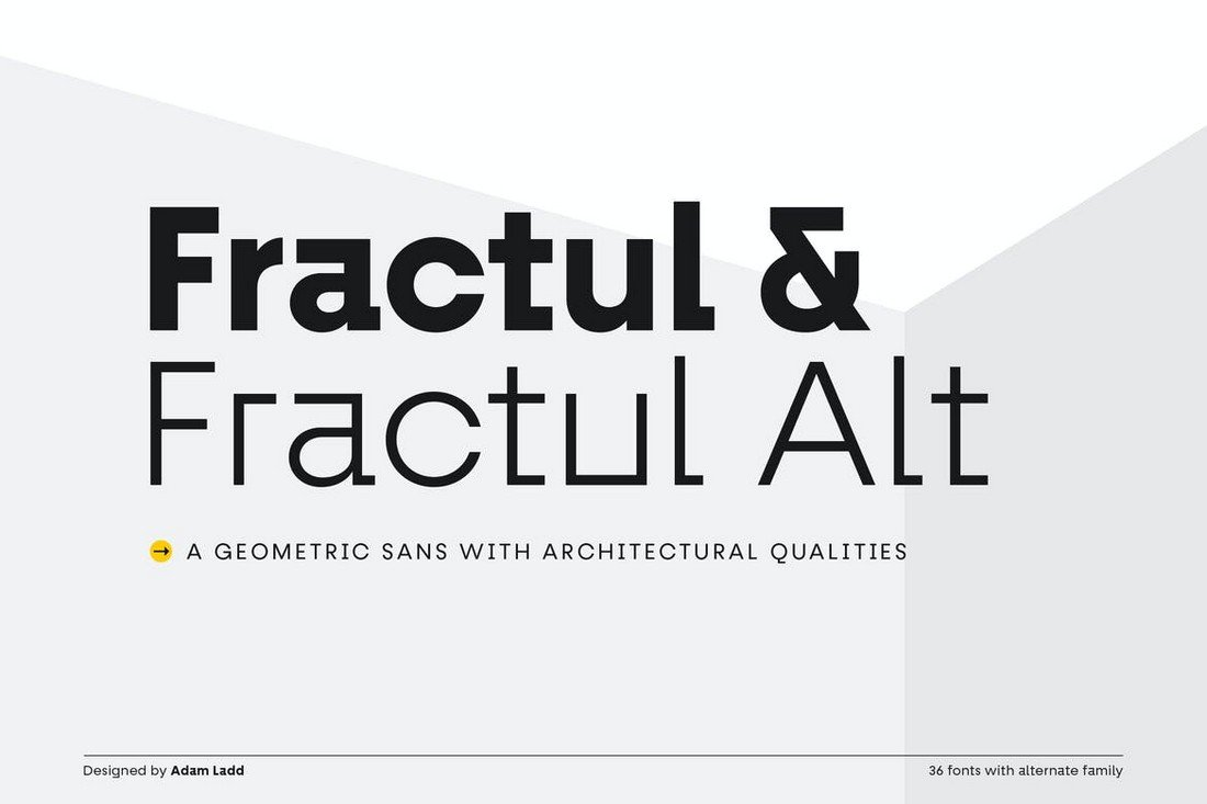 Fractul - Geometric Sans Font Family