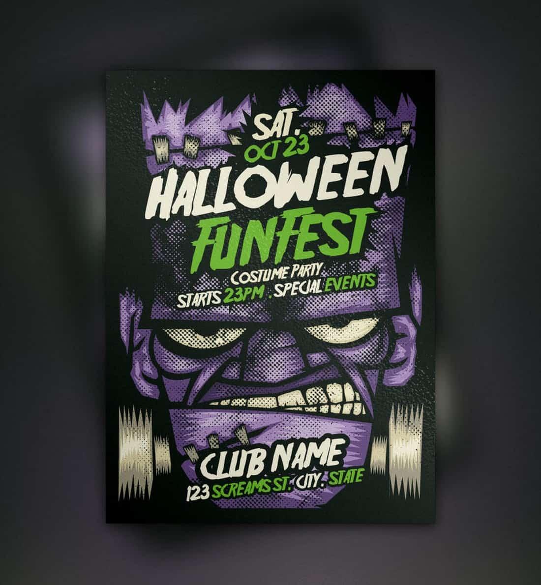 Franky Halloween Flyer Template