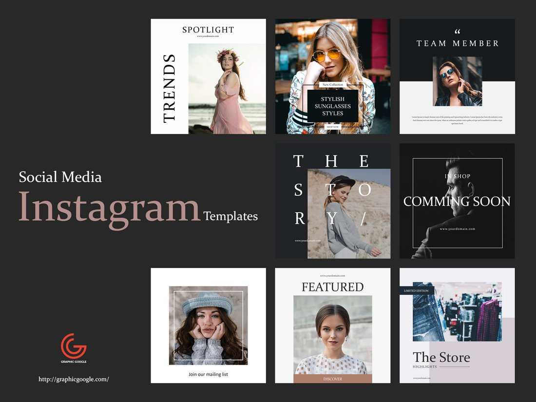 Free 8 Social Media Instagram Templates