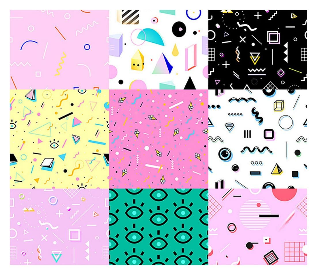 Free 80s Style Geometric Patterns