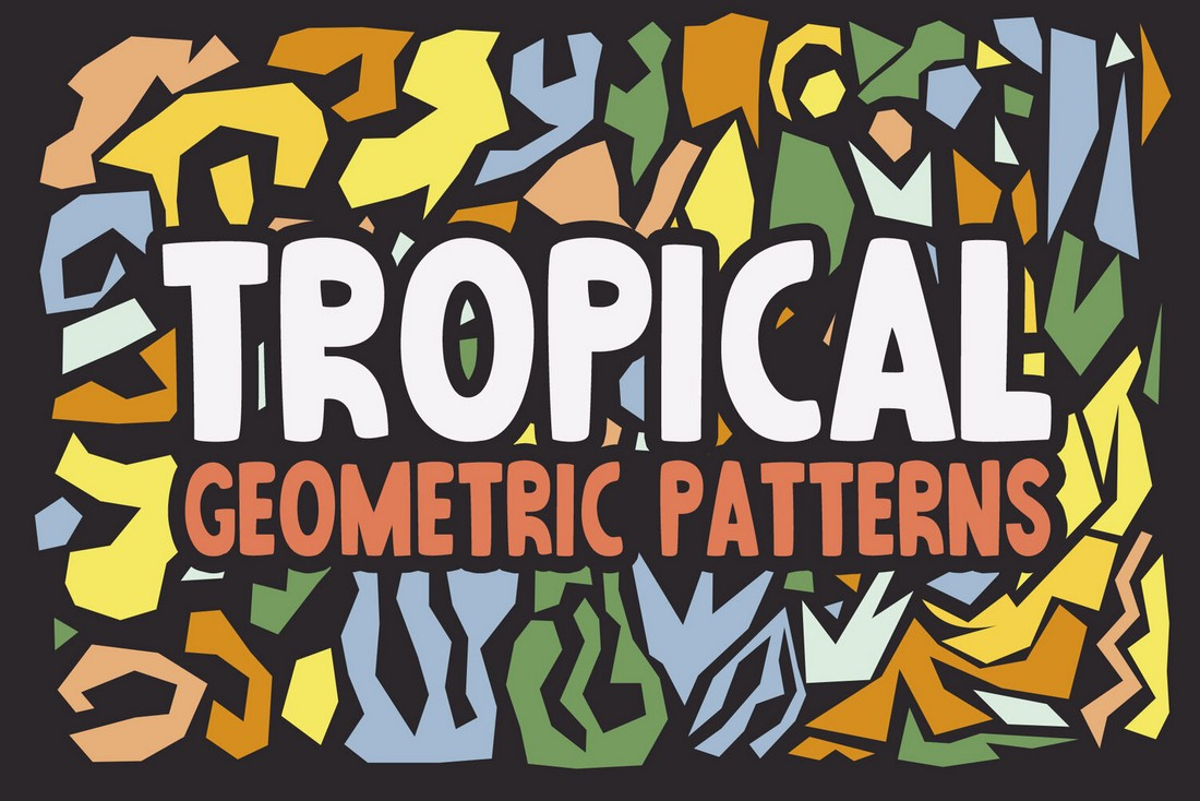 Free Abstract Tropical Patterns & Vectors