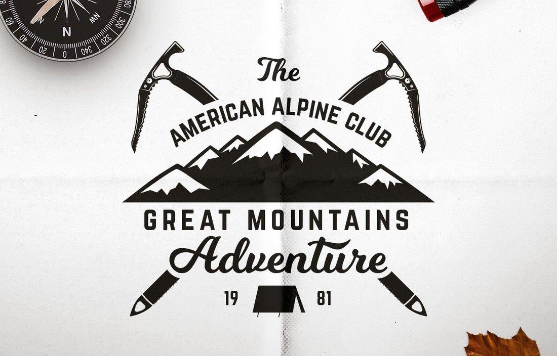 Free Adventure T-Shirt Badge Design 2