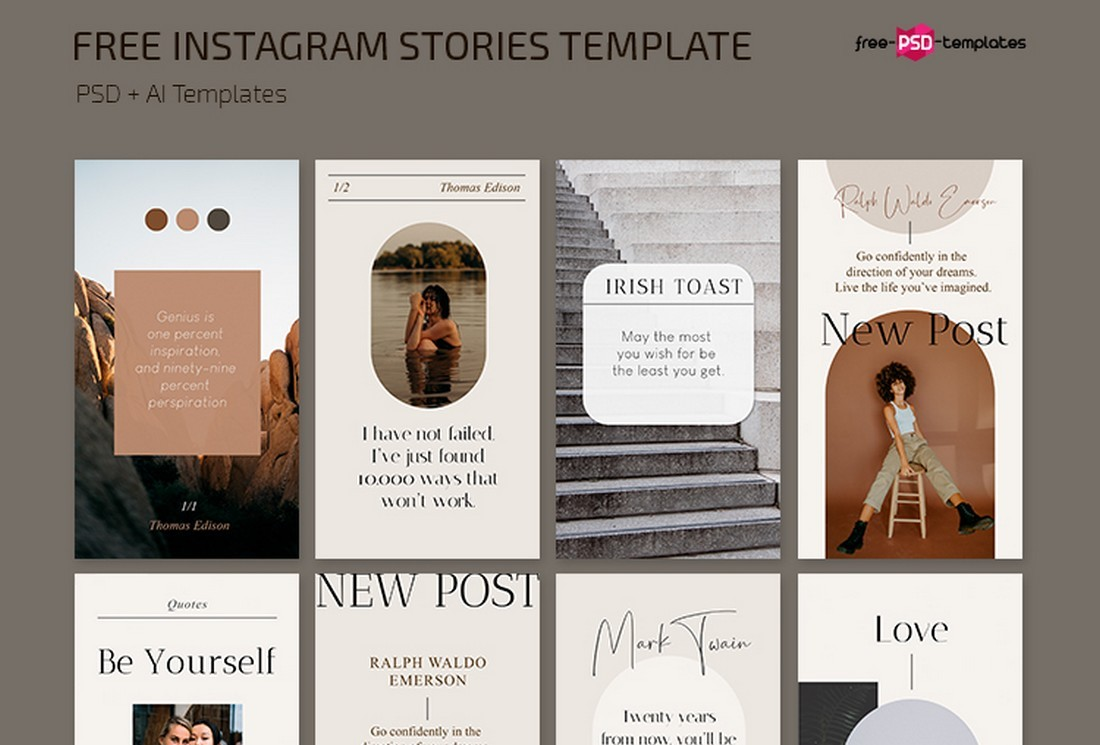Free Aesthetic Instagram Story Templates