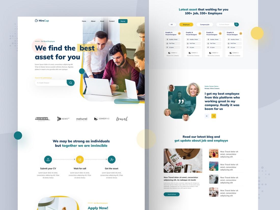 Free Agency Website Figma Template