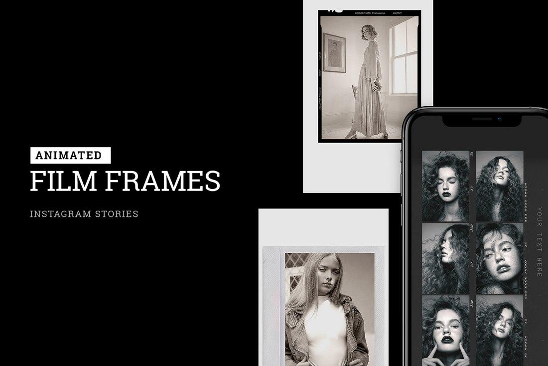 Free Animated Film Frames Instagram Story