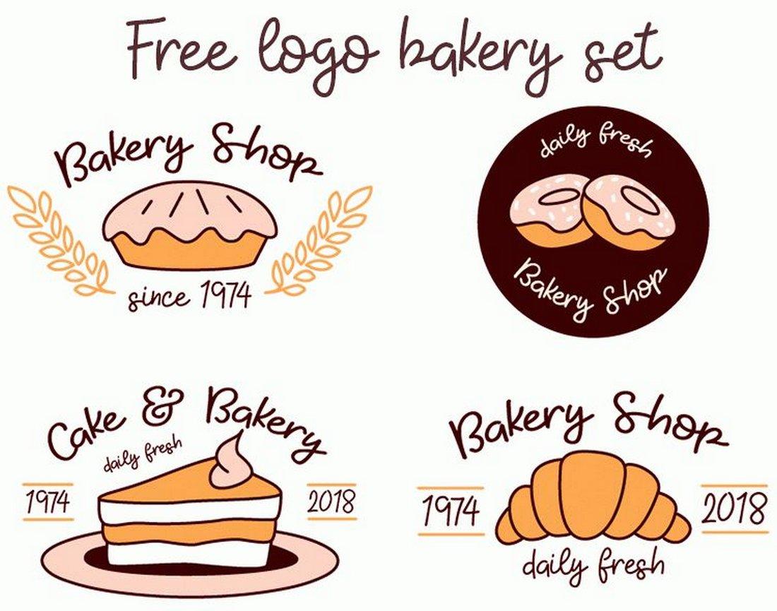 Free Bakery & Shop Logo Templates