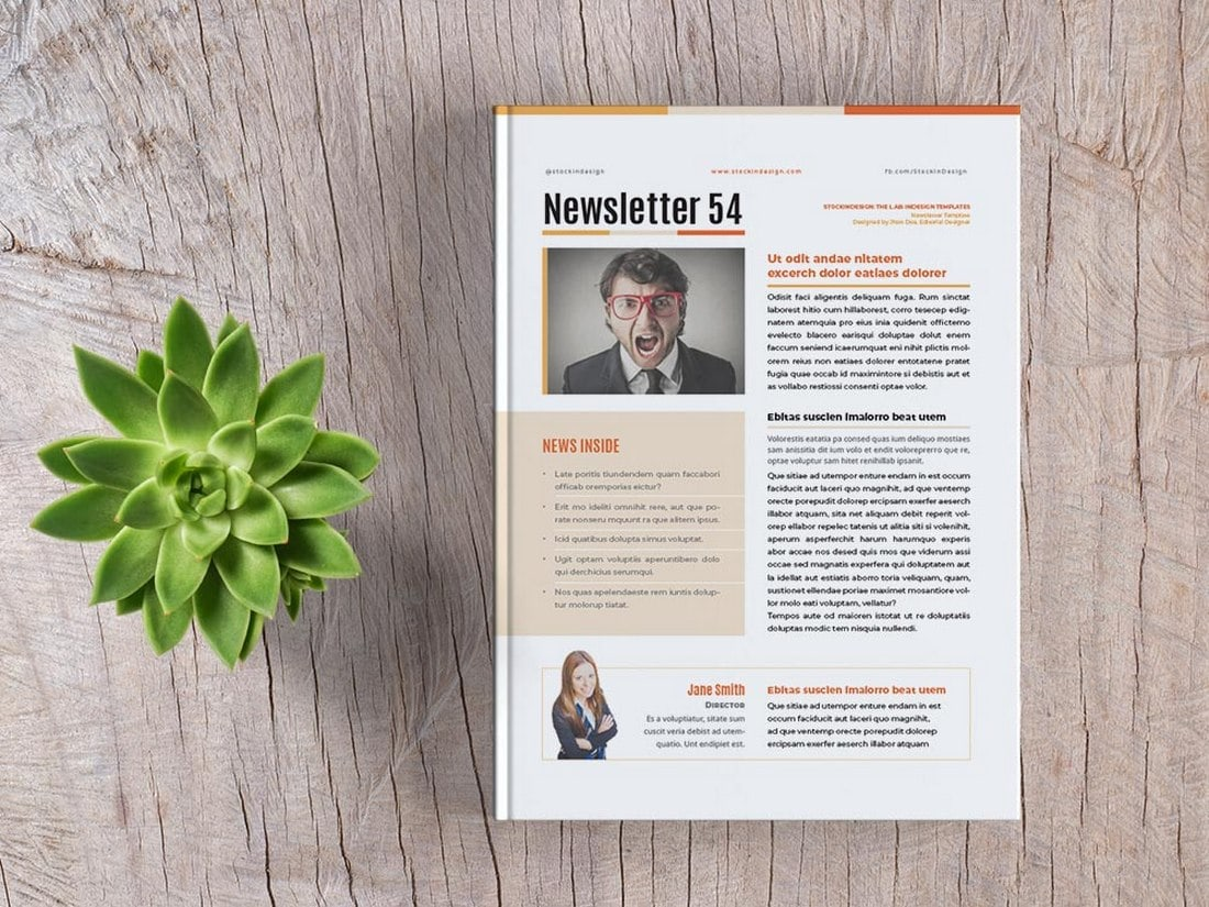 Free-Basic-InDesign-Newsletter-Template 20+ Best InDesign Newsletter Templates (Free & Premium) design tips  Inspiration