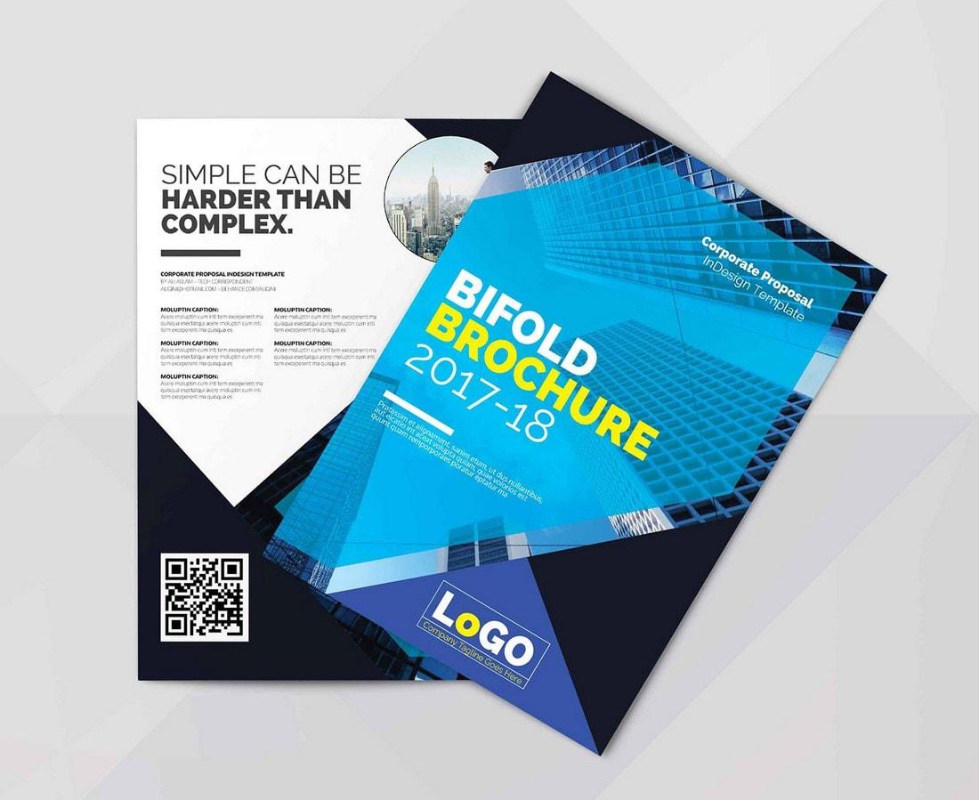 Free Bi-Fold Brochure Template