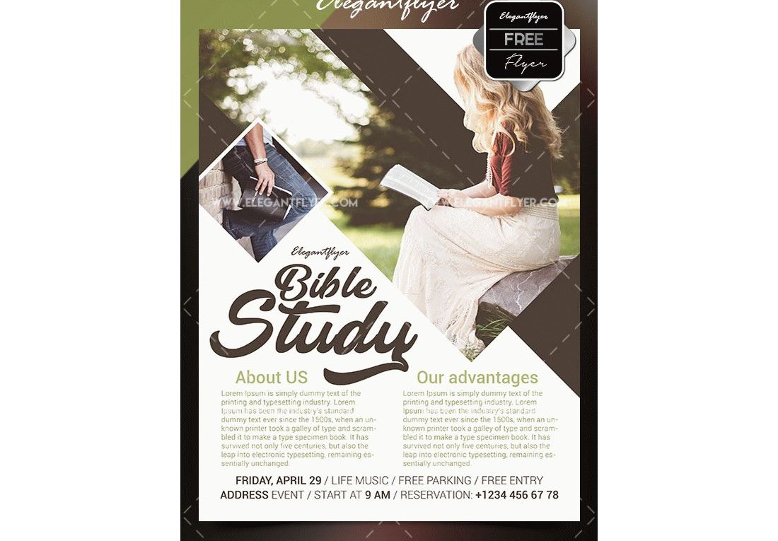 Free Bible Study Flyer Template