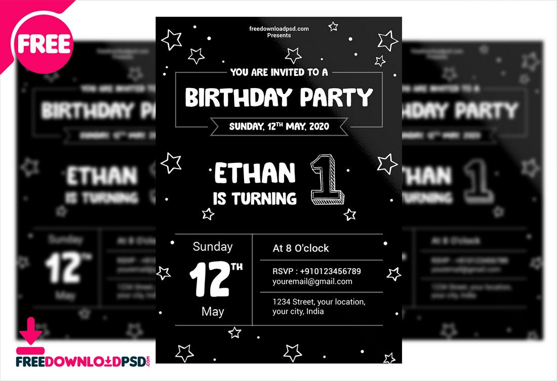 Free Birthday Invitation Flyer Template