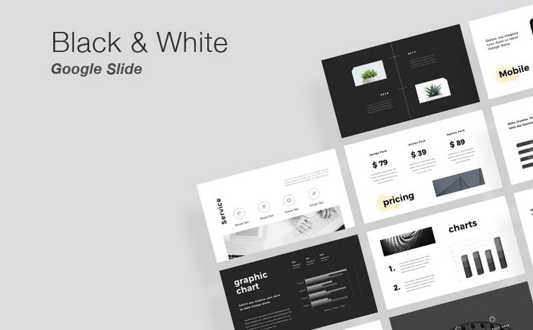 Free Black & White Google Slides Template