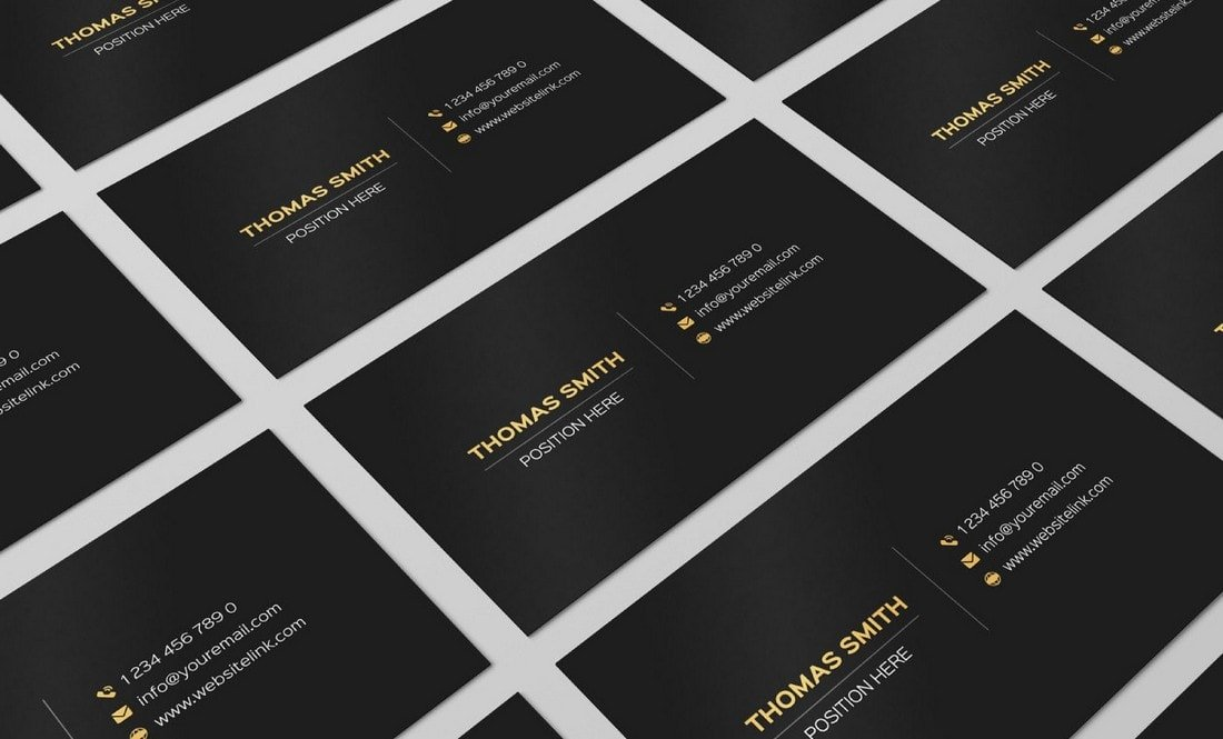 Free Black and Gold Business Card Template