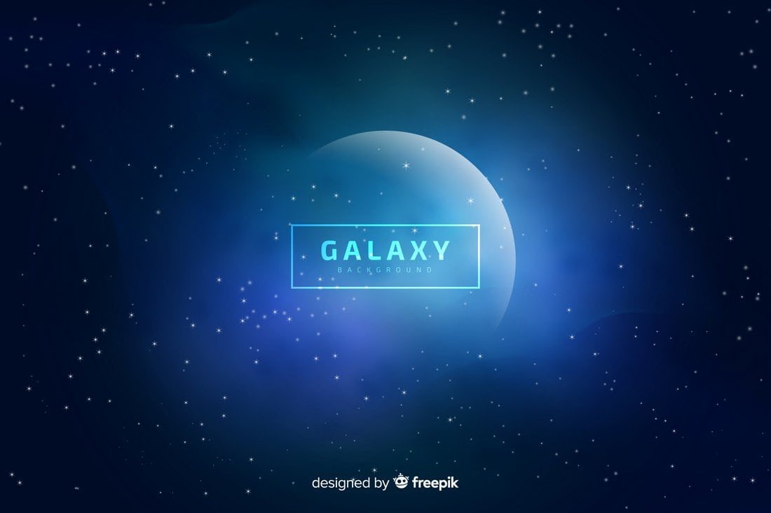 Free Blurred Galaxy Background