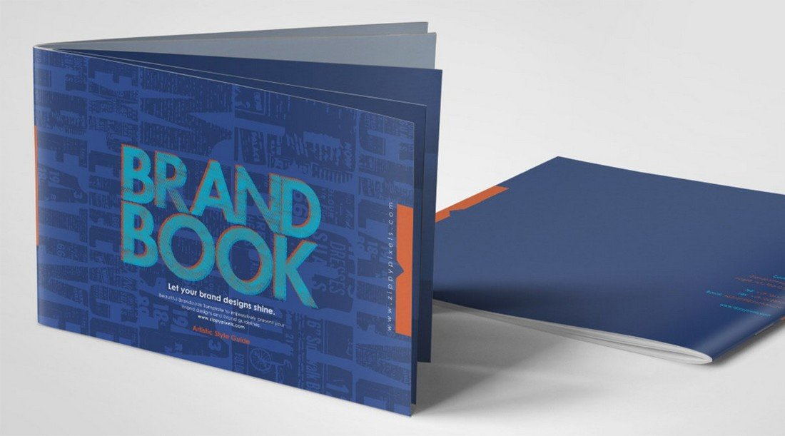 Free-Brand-Book-Manual-Template 20+ Best Brand Manual & Style Guide Templates 2020 (Free + Premium) design tips