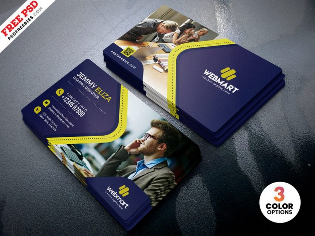 Free Business Card PSD Template for Designers