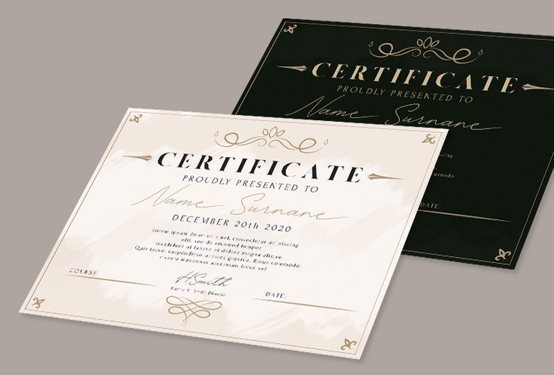 Free Business Certificate Template PSD