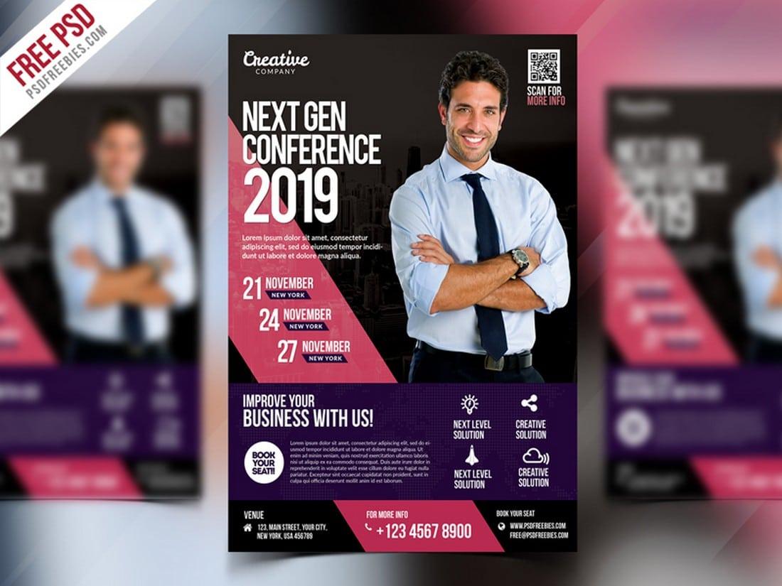 Free Business Event Seminar Flyer PSD