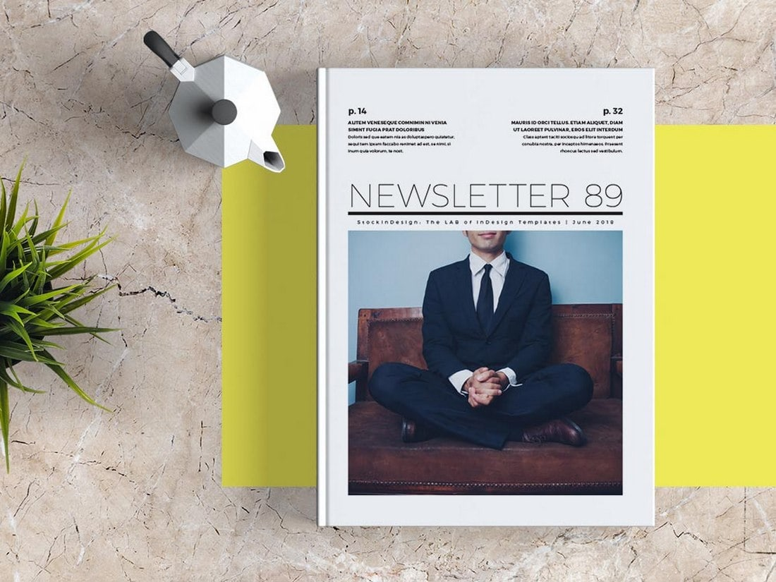 Free-Business-InDesign-Newsletter-Template 20+ Best InDesign Newsletter Templates (Free & Premium) design tips  Inspiration