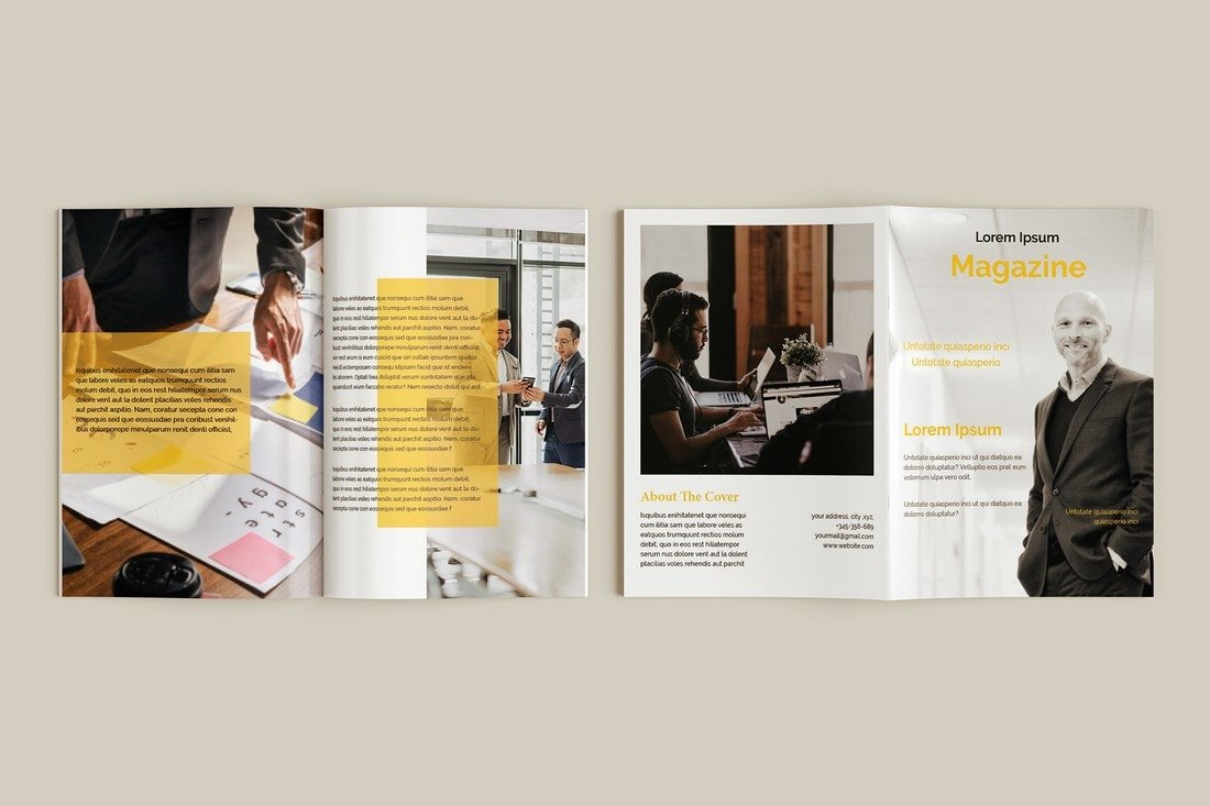 Free-Business-Magazine-InDesign-Template 30+ Best InDesign Magazine Templates 2021 (Free & Premium) design tips